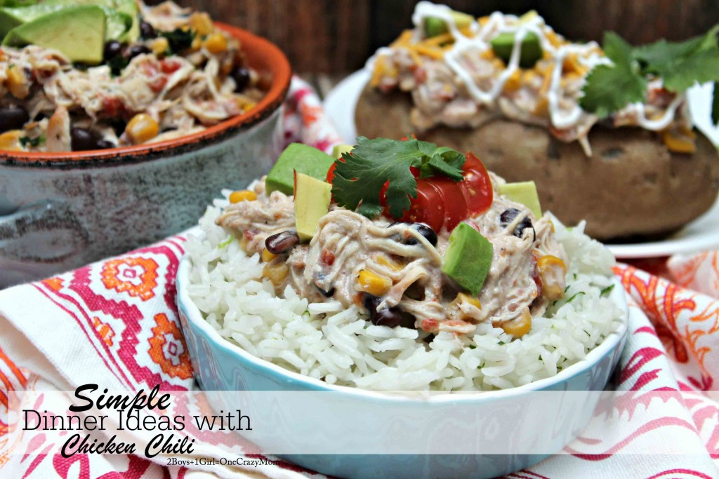 Simple Dinner ideas with Chicken Chili #YesYouCAN