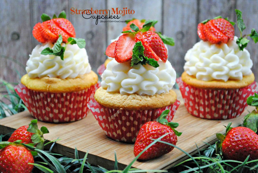 Yummy Strawberry Mojito Cupcake #Recipe idea