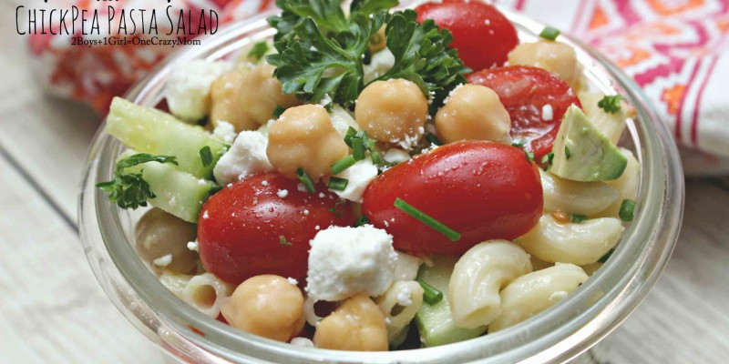 My Colorful Chickpea Pasta Salad may help you get some sleep