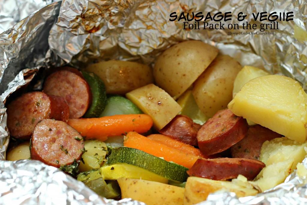 Slaw Dog and Sausage Foil Pack dinner ideas