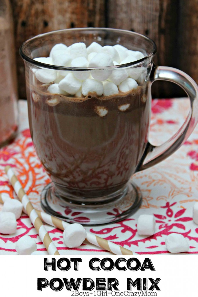 Homemade Hot Chocolate powder is easy and awesome #SnuggleUpMoments
