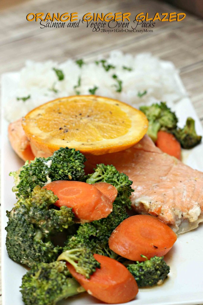 Orange Ginger Salmon Veggie packs #SamsClubMag