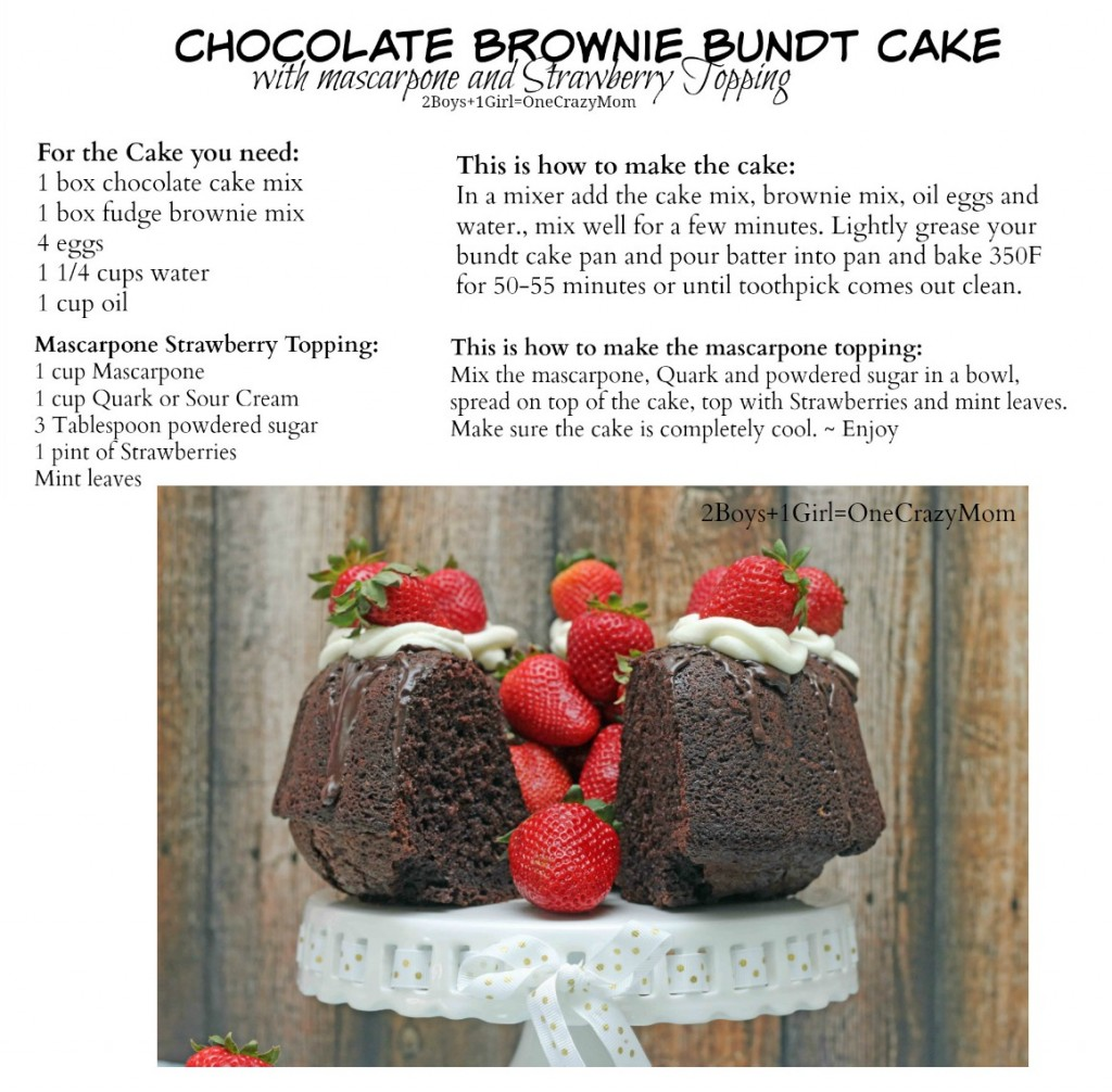 Chocolate Brownie Bundt Cake #Recipe