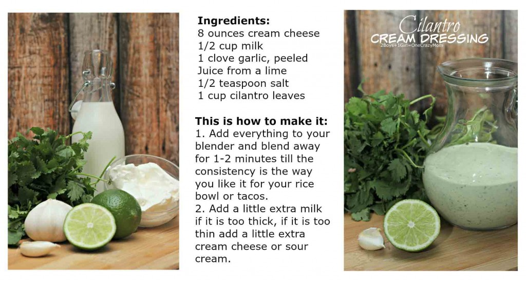 Cilantro Cream Dressing #Recipe