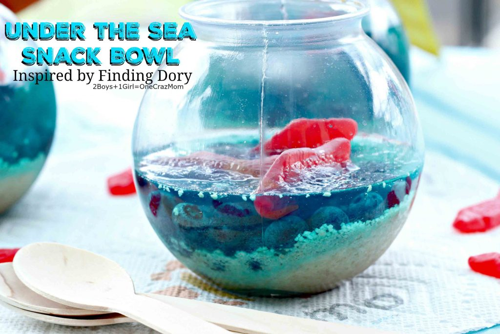 Finding Dory inspired Under the Sea Snack Bowls