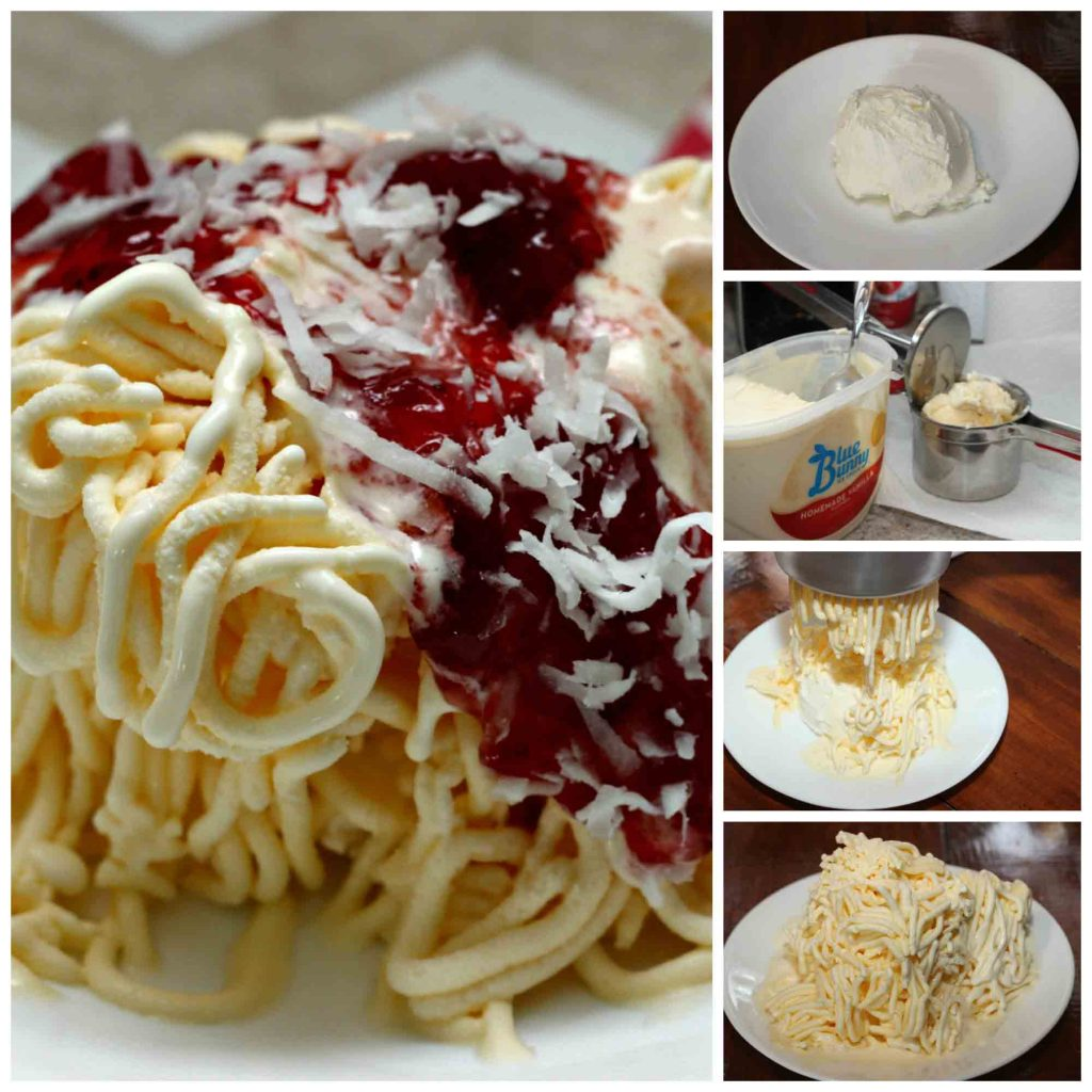 Spagetti Eis Creation ala Germany