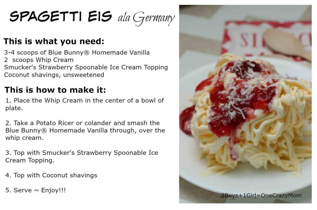 Spagetti Eis #Recipe Card