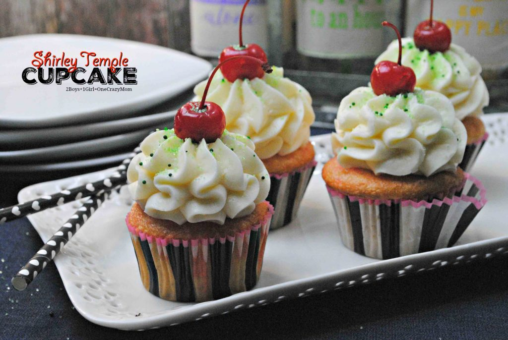 shirley temple cupcake recipe idea