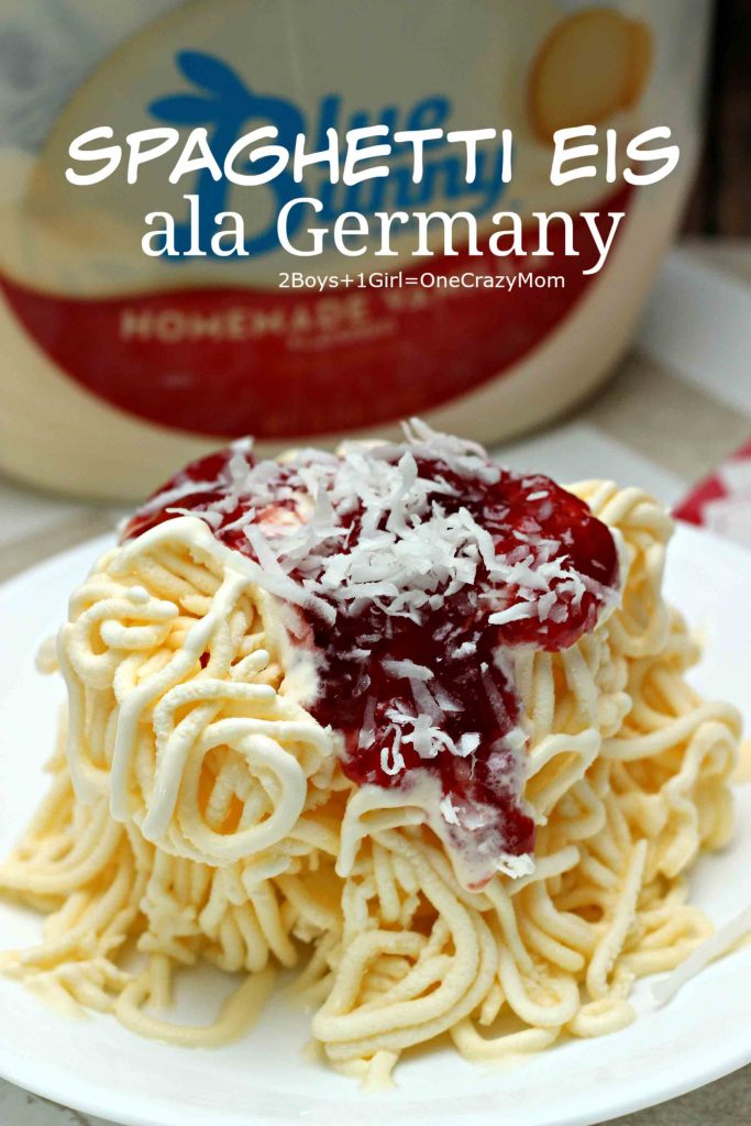spaghetti eis ala Germany Recipe idea