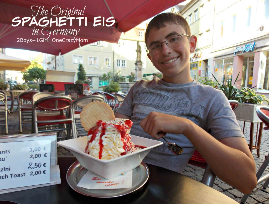 spaghetti eis in Germany