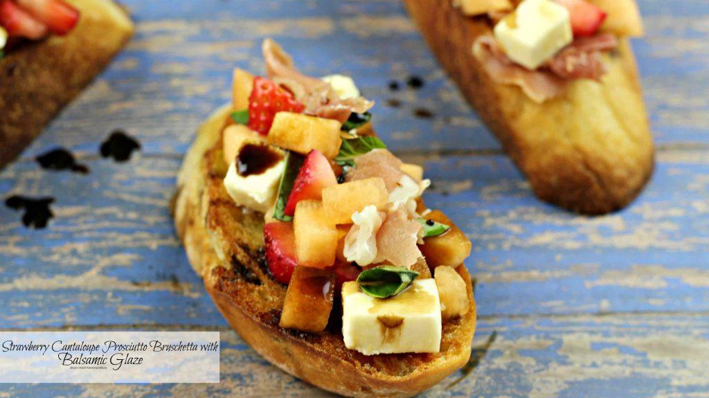 Cantaloupe-Prosciutto-Bruschetta-snack-idea