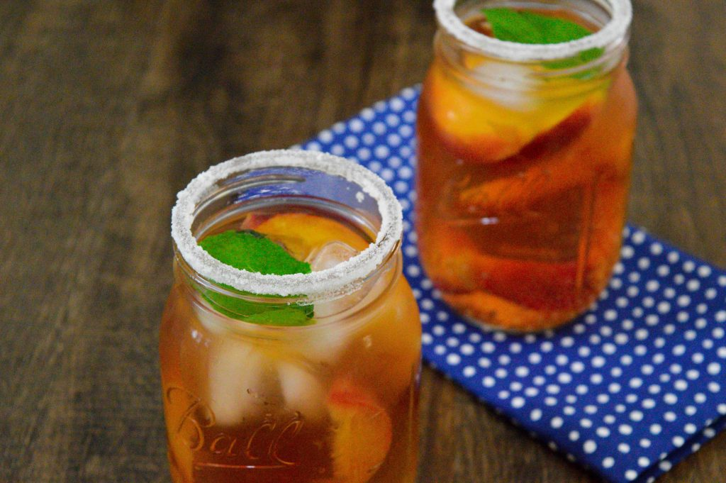 Perfect summer Peach and Minty Iced Tea