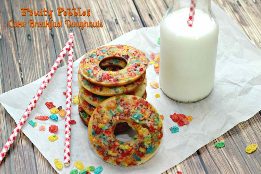 Fruity Pebbles Breakfast Doughnut for Back to School power
