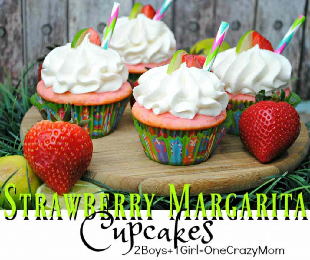 Simple-Strawberry-Margarita-Cupcakes-#Recipe