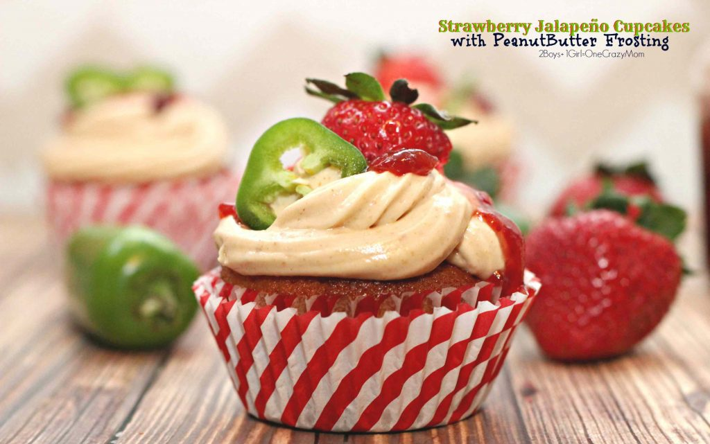 Honey Strawberry Jalapeno Cupcakes are a sweet treat
