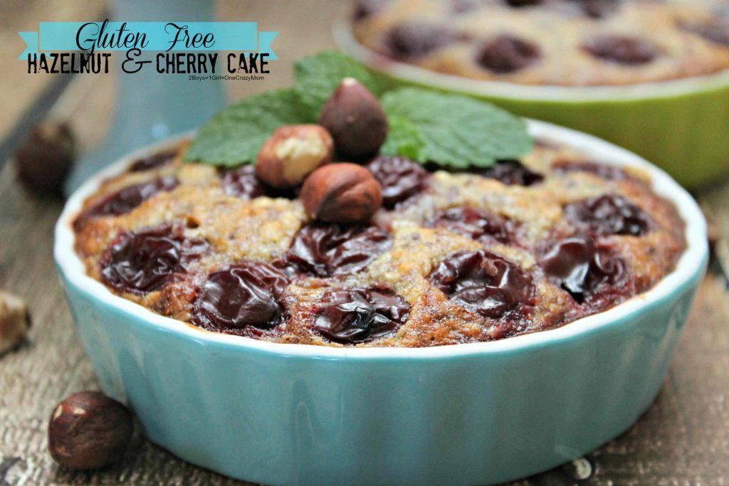 Gluten Free Hazelnut Cherry Cake