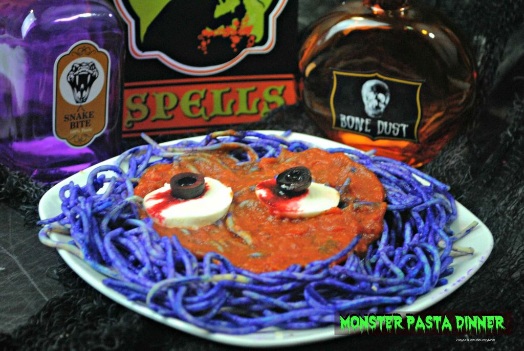 Halloween Monster Bash Pasta Dinner idea