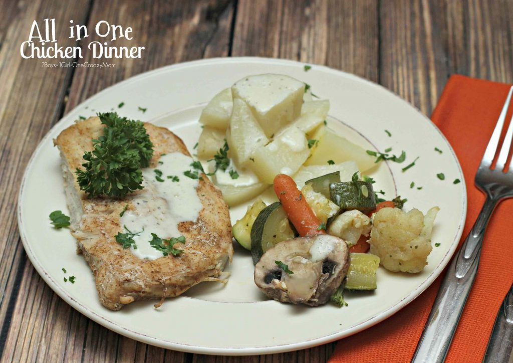 Chicken Dinner All in One Meal in under 30 Minutes