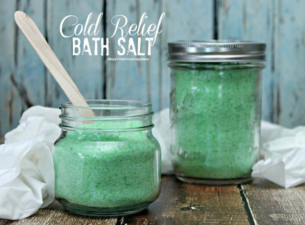 DIY Cold Bath Salt and tips to prepare for Cold Season