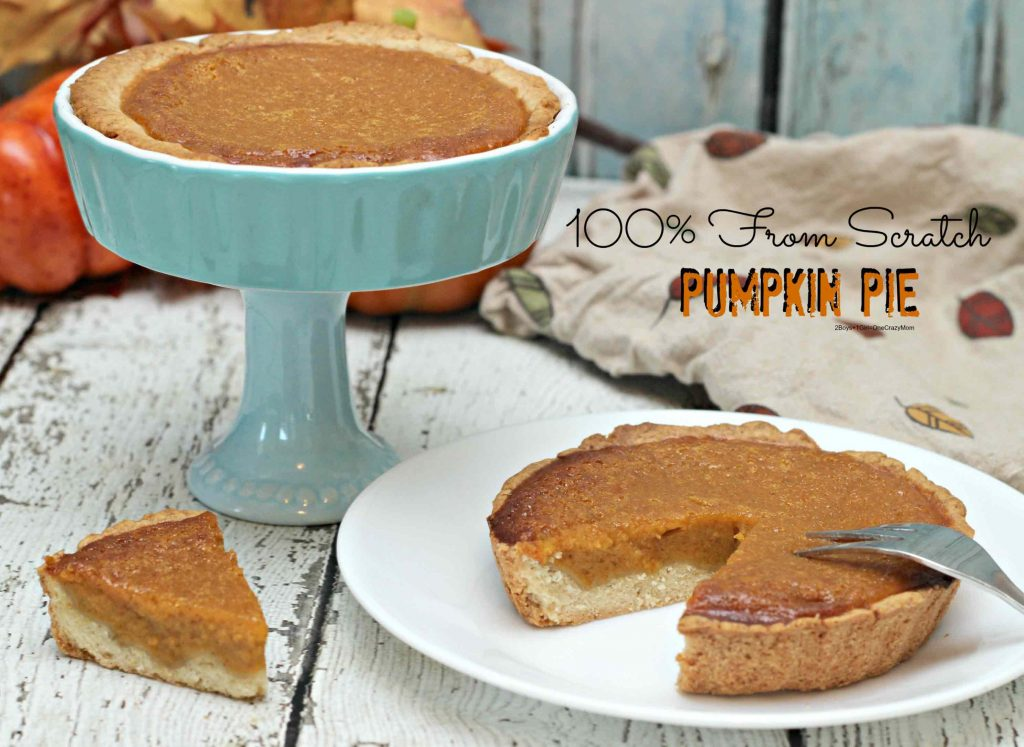 Delicious From Scratch Pumpkin Pie in your Thermo Cooker