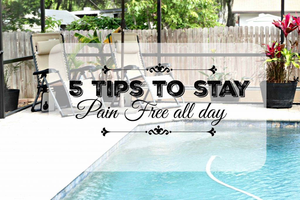 5 tips to keep chronic pain away