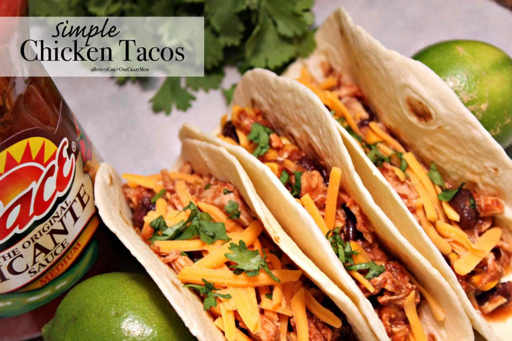 Slow Cooker Chicken Tacos are the perfect touchdown for any party