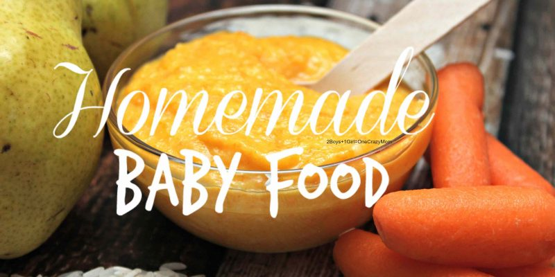 Make your own Baby Food in no time from scratch
